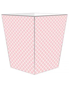 Chelsea Pink Decoupage Wastebasket and Optional Tissue Box Cover, Can Be Personalized