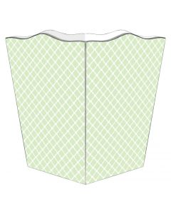 Chelsea Mint Green Decoupage Wastebasket and Optional Tissue Box Cover
