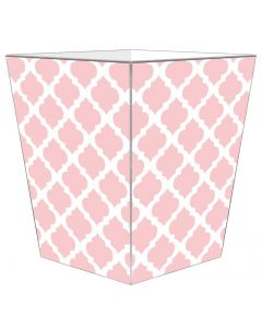 Pink Chelsea Grande Decoupage Wastebasket and Optional Tissue Box Cover