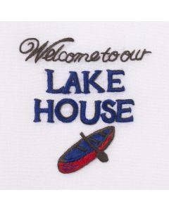 Set of 2 Lake House Design Everyday Cotton Hand Towels