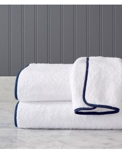 Wellow Brook Roma Terry With Tape Trim Bath Towels - Available in a Variety of Trim Colors and Sizes