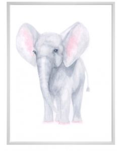 Whimsical Watercolor Pastel Elephant Canvas Children's Wall Art