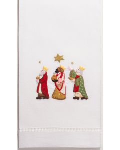 Set of 2 Wise Men Cotton Christmas Hand Towels