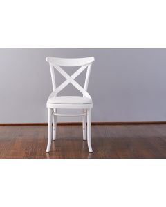 French X-Back Cafe Dining Chair in White