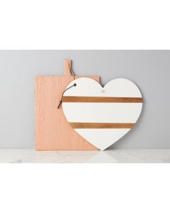Heart Charcuterie Cutting Board in White - PREORDER: SHIPMENT IN FEBRUARY