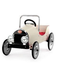 White Classic Ride-On Pedal Car for Kids