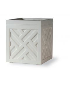 White Square Chippendale Style Outdoor Garden Planter - Available in 3 Sizes - ON BACKORDER UNTIL SEPTEMBER 2021