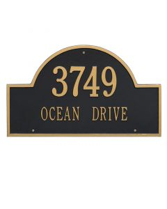 Two Line Estate Arch Marker Wall Plaque – Available in a Variety of Colors