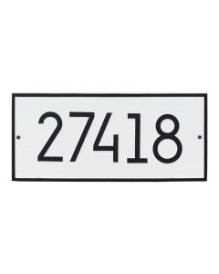 Rectangular Personalized Wall Mounted Address Plaque – Available in a Variety of Colors