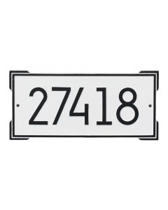 Contemporary Rectangular Personalized Wall Mounted Address Plaque – Available in a Variety of Colors