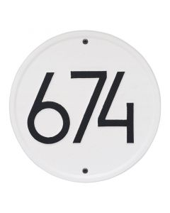 Contemporary Round Personalized Wall Mounted Address Plaque – Available in a Variety of Colors
