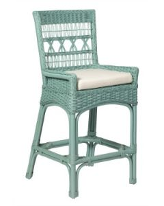 Wicker Counter Stool - Available in a Variety Colors