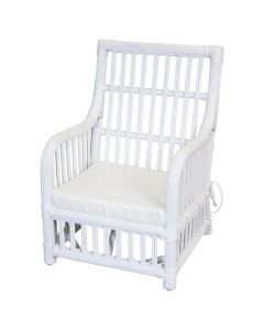 Wicker Lounge Chair with Arms for Kids - Available in a Variety of Colors