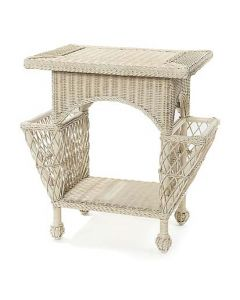 Wicker Magazine Table in Variety Colors