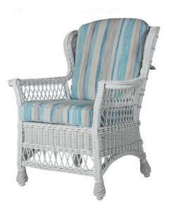 Wicker Wing Style Dining Arm Chair - Available in a Variety of Finishes