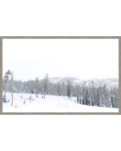 Winter White Snowy Mountains Framed Wall Art