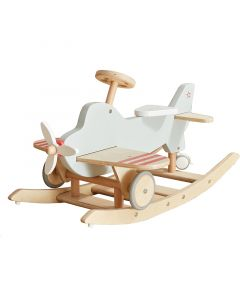 Wood Airplane Rocker and Ride On