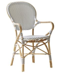 Woven Bistro Style Arm Chair - Available in Two Colors