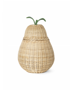 Woven Rattan Natural Pear Storage Box for Kids