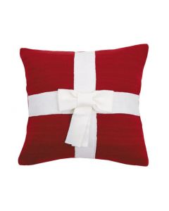 Wrapped Red Present Holiday Christmas Pillow - LOW STOCK