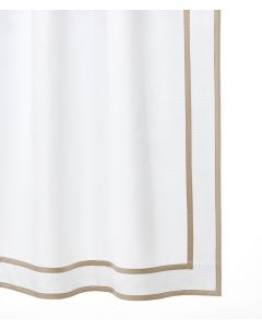 Yates Double Line Tape Trim Border Shower Curtain - Available in a Variety of Tape Colors & Sizes