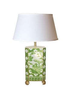 Canton in Green Table Lamp