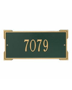 Whitehall Products Personalized Roanoke Standard Wall Plaque - Green/Gold