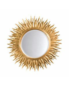 18th Century Italian Style Carved Wood Sunburst Mirror