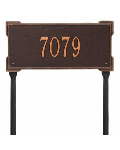 Whitehall Products Personalized Roanoke Standard Lawn Plaque - Antique Copper