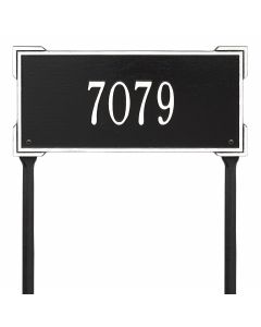 Whitehall Products Personalized Roanoke Standard Lawn Plaque - Black/White