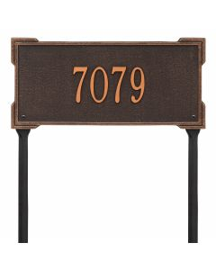 Personalized Lawn Address Plaque - Oil Rubbed Bronze