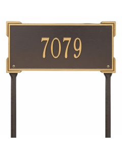 Personalized Lawn Address Plaque - Bronze & Gold