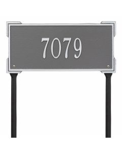Personalized Lawn Address Plaque - Pewter & Silver
