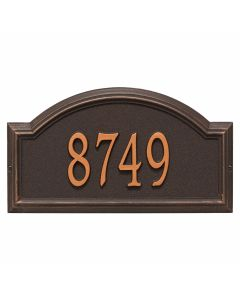 Personalized Arched Wall Mounted Address Plaque - Oil Rubbed Bronze