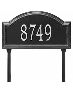 Whitehall Products Personalized Providence Arch Standard Lawn Plaque - Black/Silver