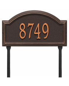 Whitehall Products Personalized Providence Arch Standard Lawn Plaque - Oil Rubbed Bronze