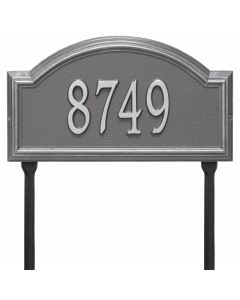 Whitehall Products Personalized Providence Arch Standard Lawn Plaque - Pewter/Silver