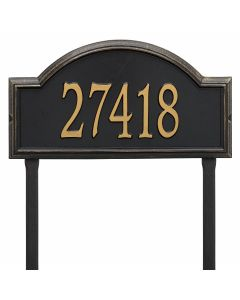Whitehall Products Personalized Providence Arch Standard Lawn Plaque - Black/Gold