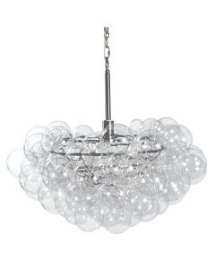 Modern Bubbles Cluster Chandelier in Clear