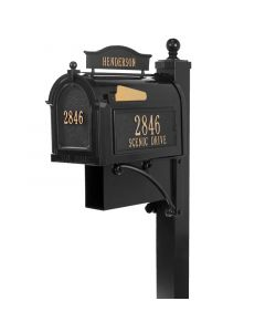 Whitehall Products Ultimate Mailbox Package - Black