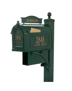 Whitehall Products Ultimate Mailbox Package - Green