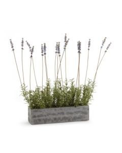 """19"""" Faux French Lavender in Trough"""