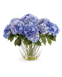 Barclay Butera 26.5'' Hydrangea Flower Arrangement in Clear Vase