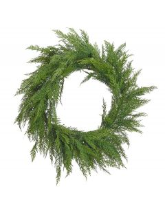 "27"" Classic Green Cedar Holiday Wreath"