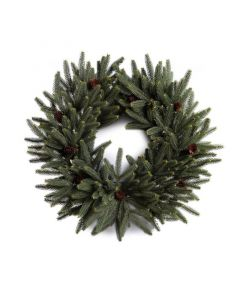 "28"" Faux Fraser Fir Wreath with Pinecones"