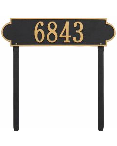 Whitehall Products Personalized Richmond Estate Lawn Plaque - Black/Gold