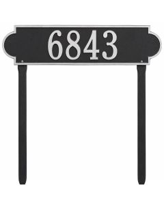 Whitehall Products Personalized Richmond Estate Lawn Plaque - Black/Silver
