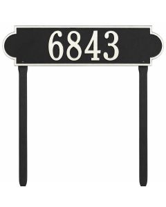 Whitehall Products Personalized Richmond Estate Lawn Plaque - Black/White