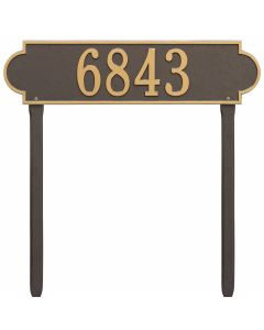 Whitehall Products Personalized Richmond Estate Lawn Plaque - Bronze/Gold
