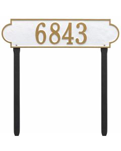 Whitehall Products Personalized Richmond Estate Lawn Plaque - White/Gold